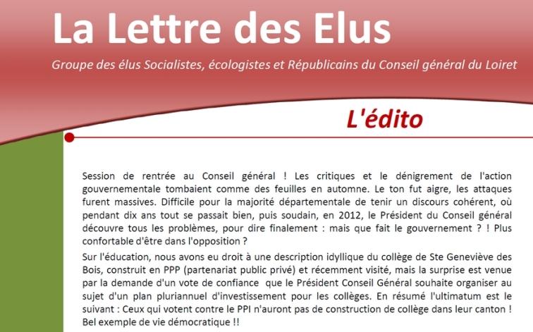 lettre des élus n°14