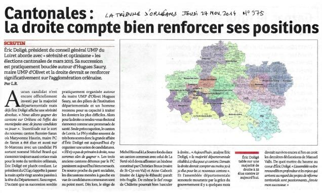 la tribune d'orléans du 27 nov 2014