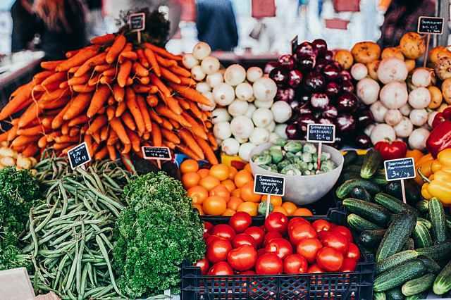 variety of vegetables on display