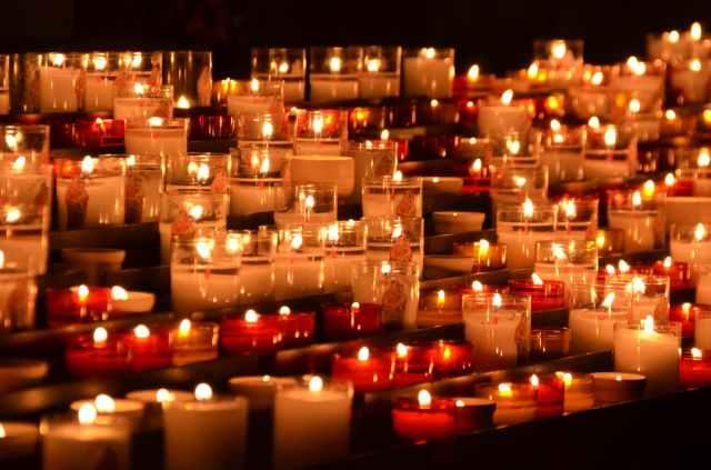 bougies chandelles chruch deuil