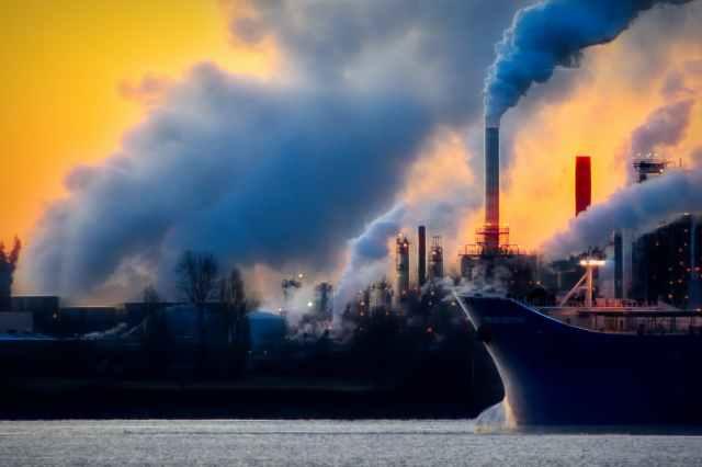 air atmosphere bateau brouillard de pollution